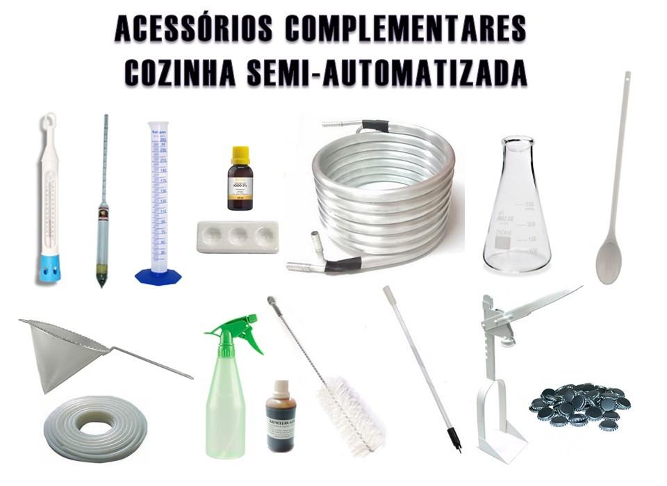 Kit de Acessórios Complementares Cozinha Semi-automatizada  - Cerveja da Casa