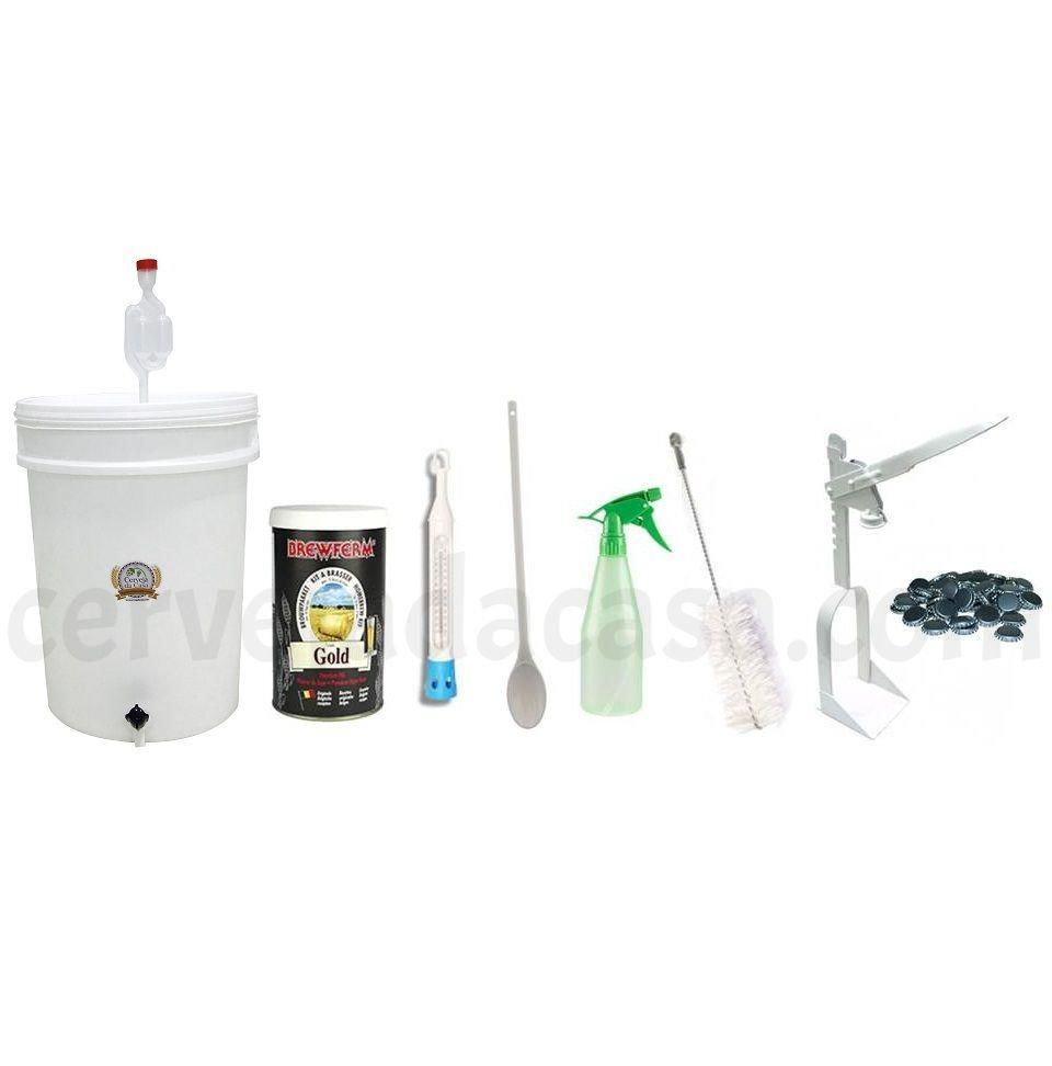 Kit de Equipamentos para Produção de Cerveja com Extrato - até 12 Litros  - Cerveja da Casa