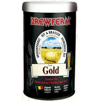 Kit de Extrato Gold - Brewferm 12 Litros  - Cerveja da Casa