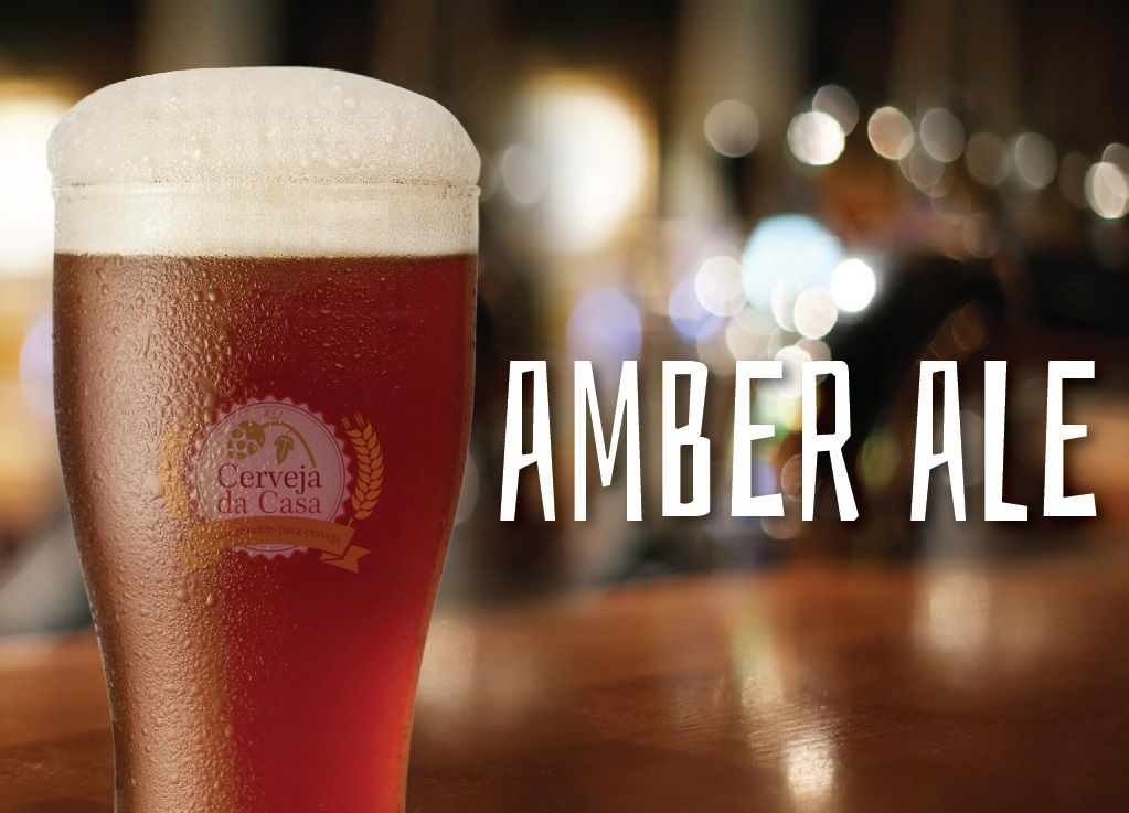 Kit de Insumos Cerveja Artesanal American Amber Ale (Opções de 10 a 60L)  - Cerveja da Casa