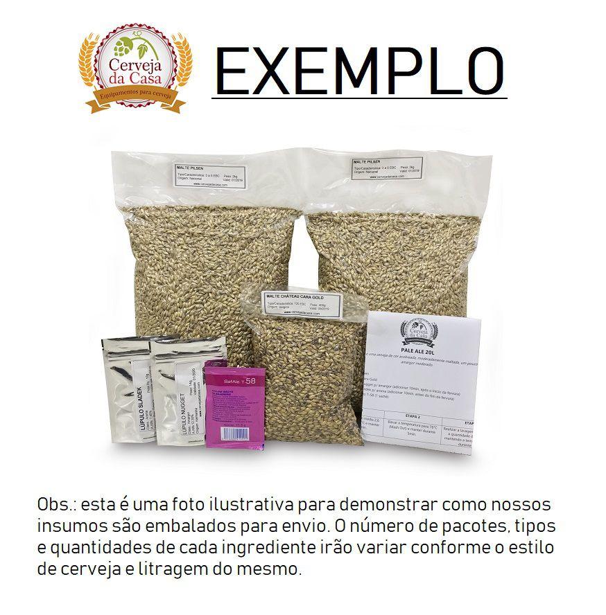 Kit de Insumos Cerveja Artesanal American Wheat (Opções de 10 a 40L)  - Cerveja da Casa