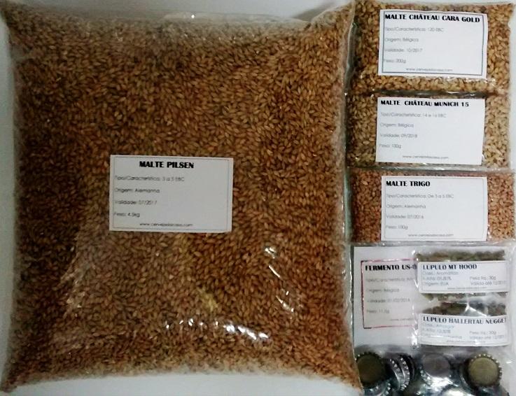 Kit de Insumos Cerveja Artesanal IPA (Opções de 10 a 40L)  - Cerveja da Casa