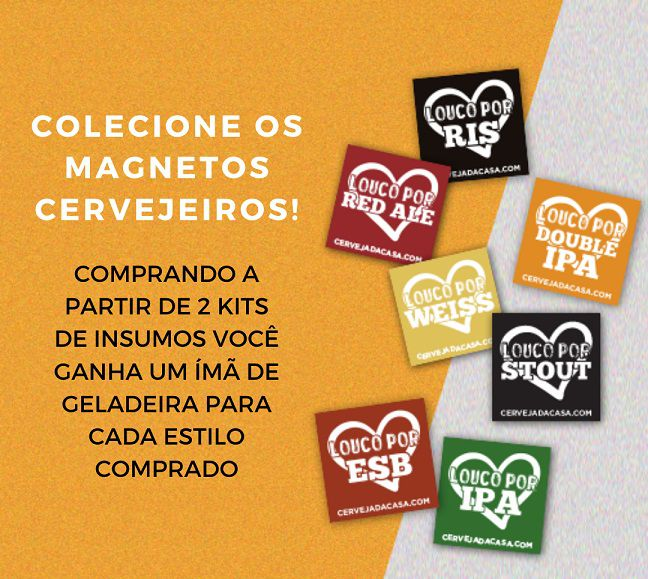 Kit de Insumos Cerveja Artesanal Red Ale (Opções de 10 a 60L)  - Cerveja da Casa
