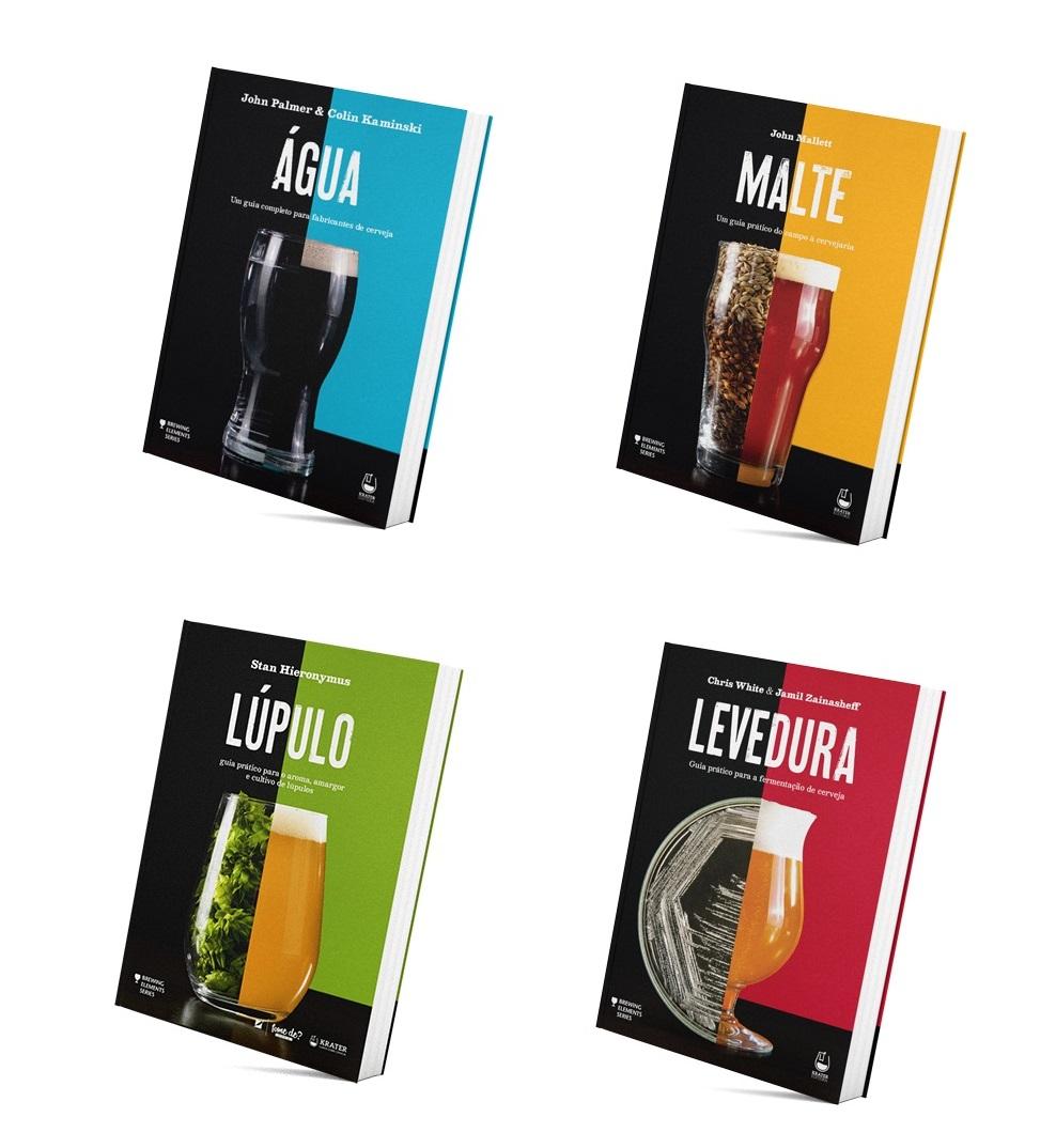 """Livros coleção """"Brewing Elements"""""""