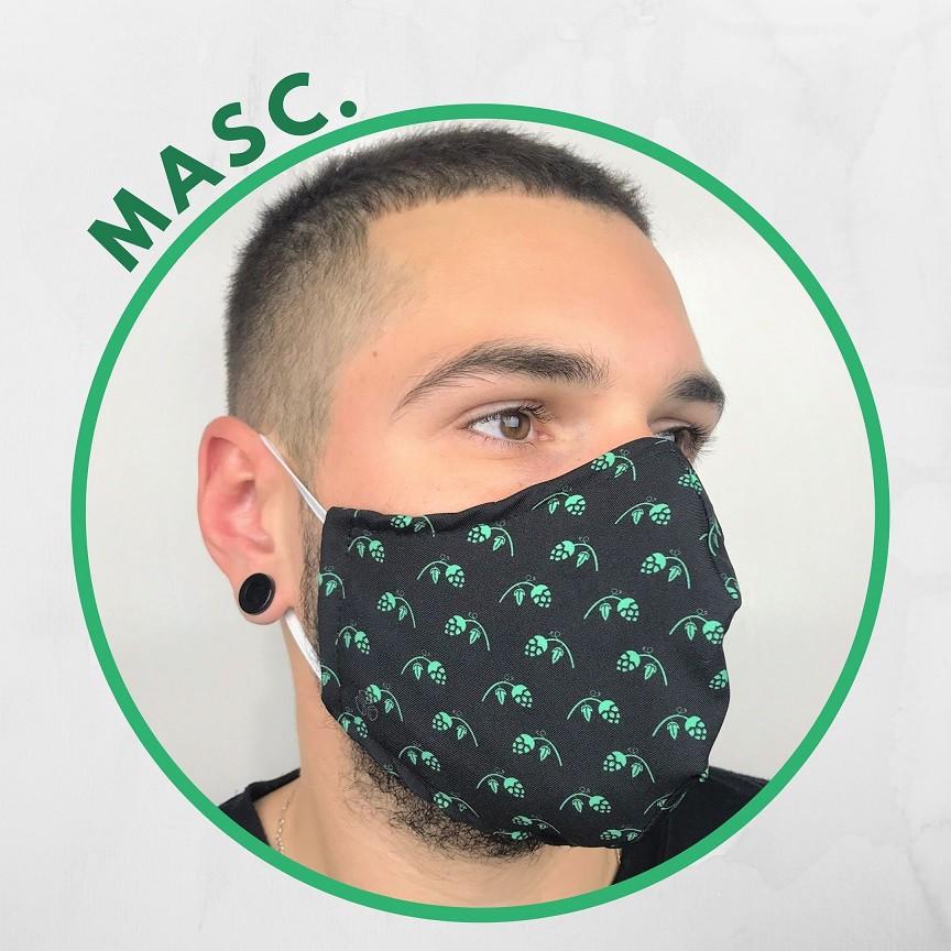 Máscara de tecido - Lúpulos