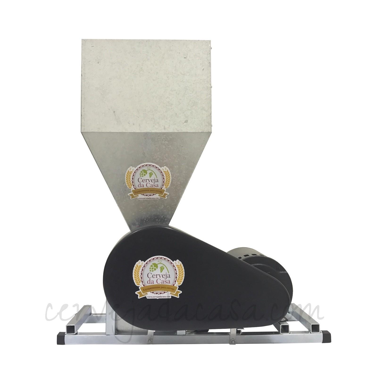 Moedor de Malte - Moinho Motorizado 3 Rolos Portátil  - Cerveja da Casa