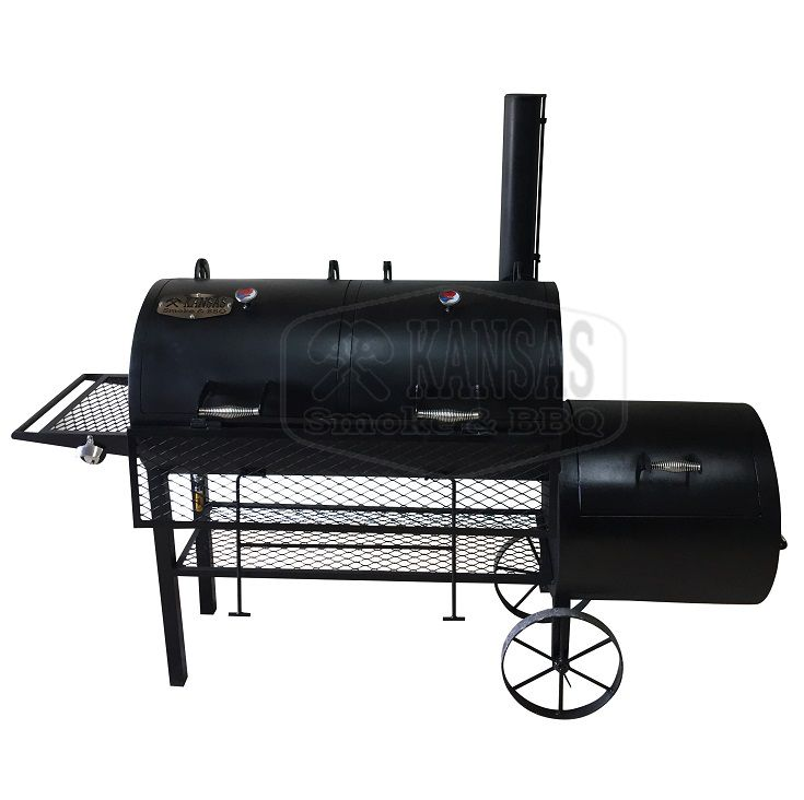 Pit Smoker Double Flow 1.000 - Kansas Smoke & BBQ