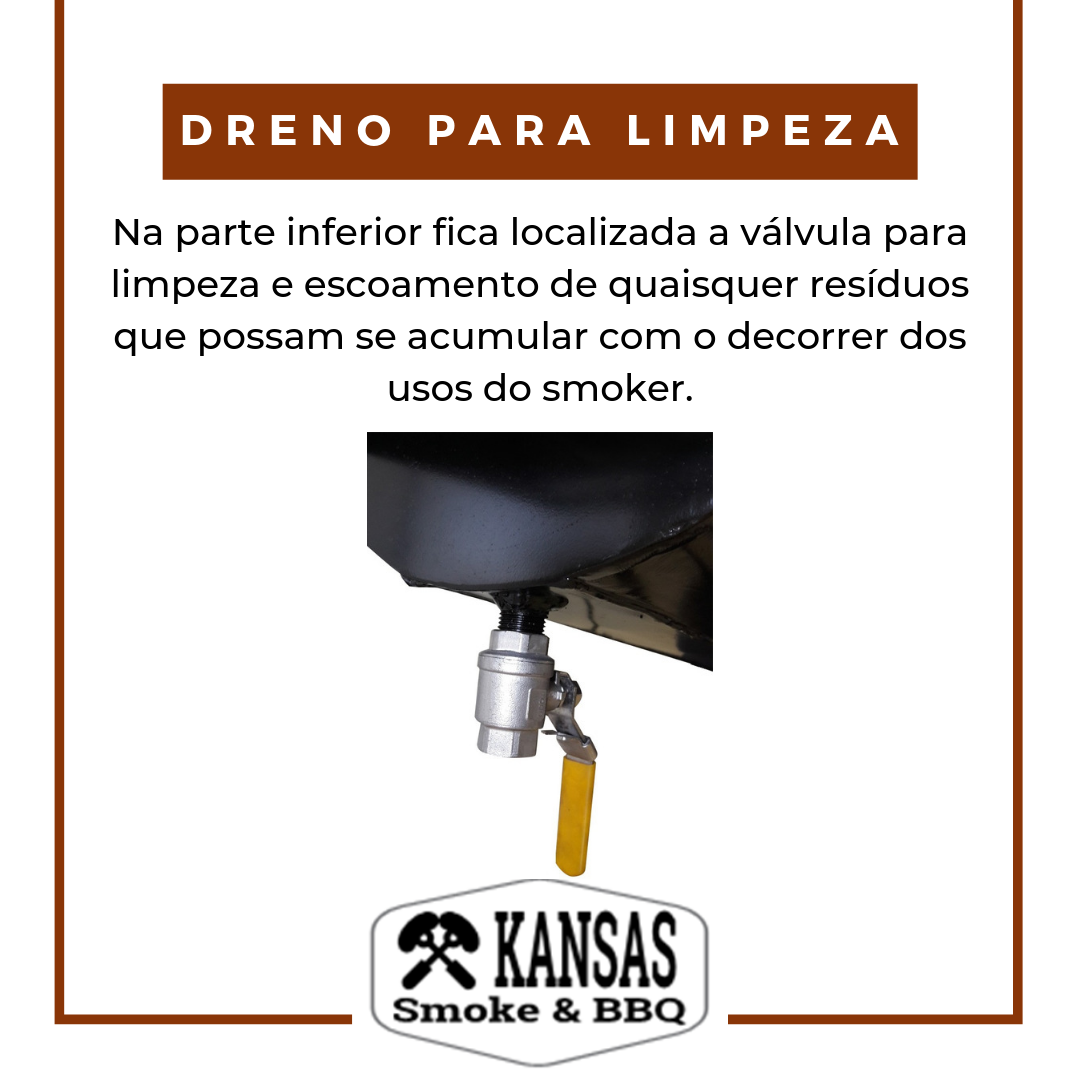 Pit Smoker Double Flow  700 - Kansas Smoke & BBQ  - Cerveja da Casa