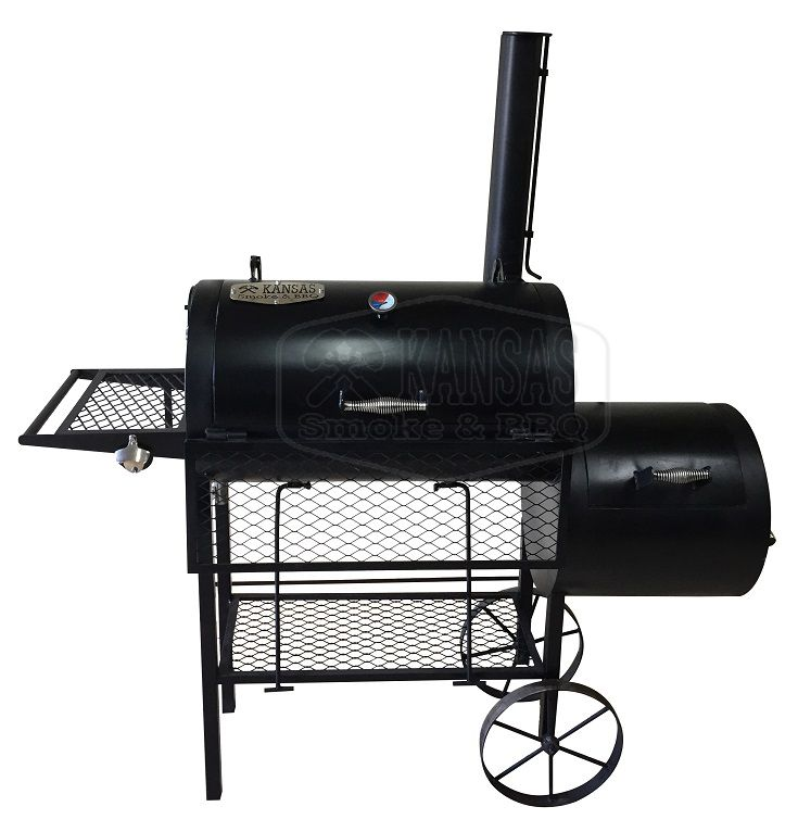 Pit Smoker Double Flow  800 - Kansas Smoke & BBQ  - Cerveja da Casa