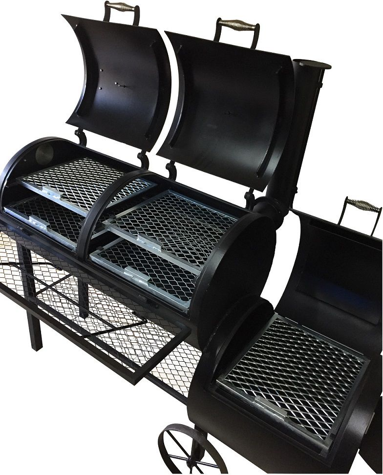 Pitsmoker Double Flow (Fluxo Direto + Fluxo Reverso) 1.000 - Defumador para American Barbecue - Arizona Smoke & BBQ