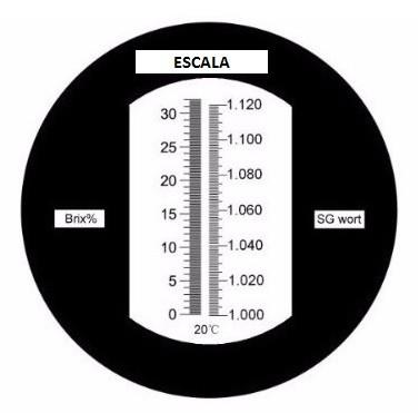 Refratômetro com Escala Brix e Gravidade Específica  - Cerveja da Casa