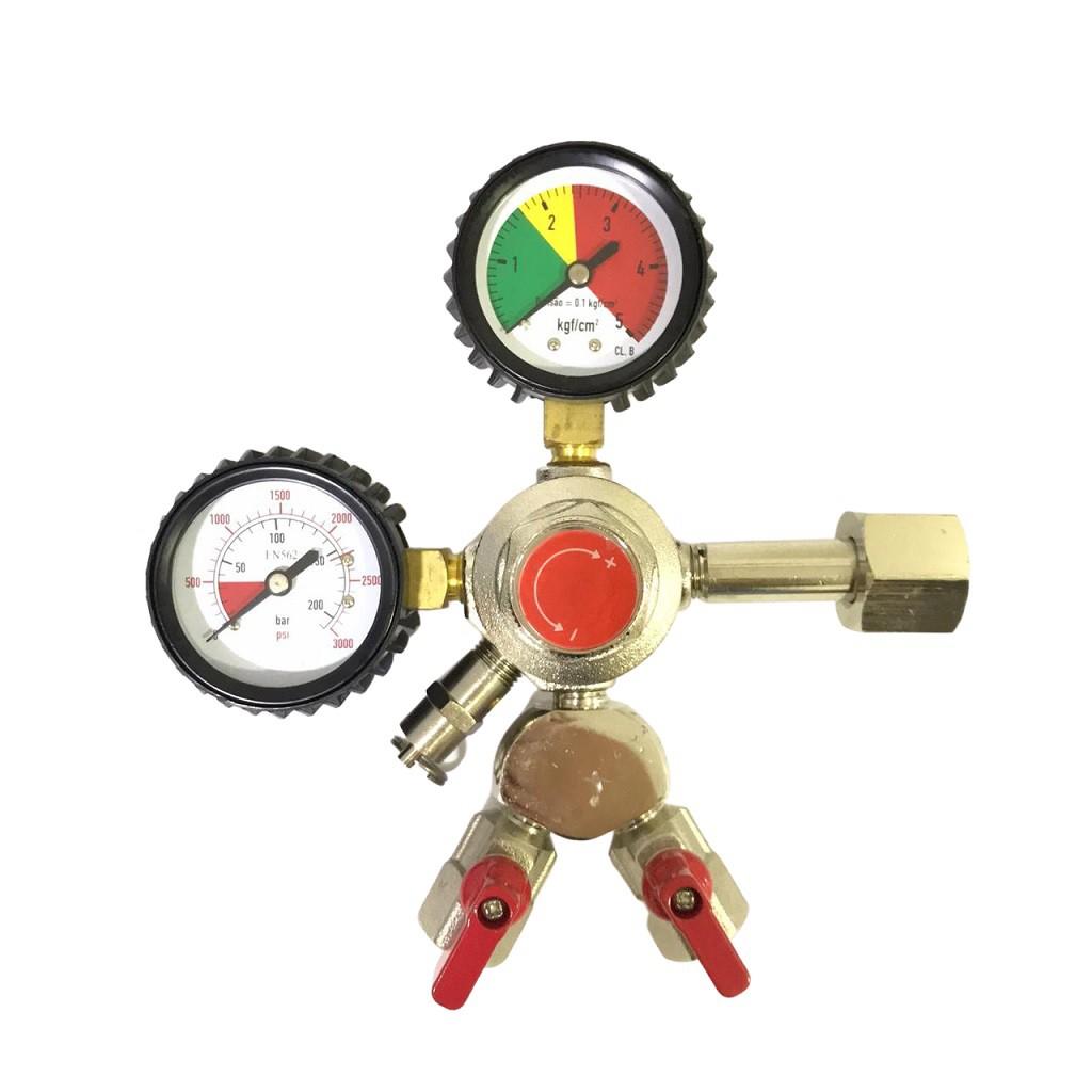 Regulador de Pressão para Gás CO2 - Saída Dupla