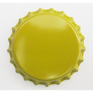 Tampinha para Garrafa - Cor Amarela  - Cerveja da Casa