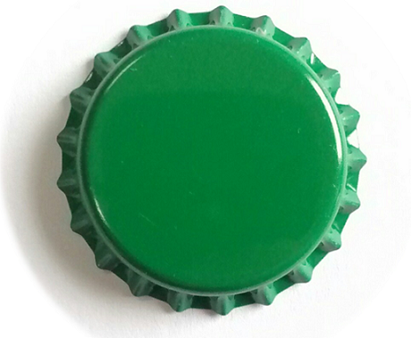 Tampinha para Garrafa - Cor Verde Escuro  - Cerveja da Casa