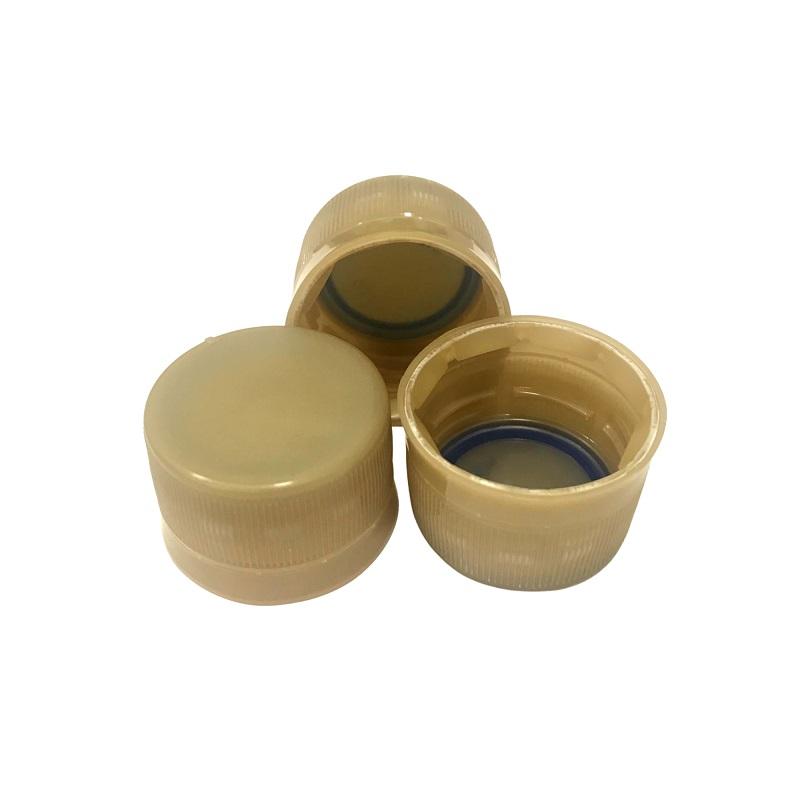 Tampinha Plástica para Garrafa / Growler Pet - Dourada