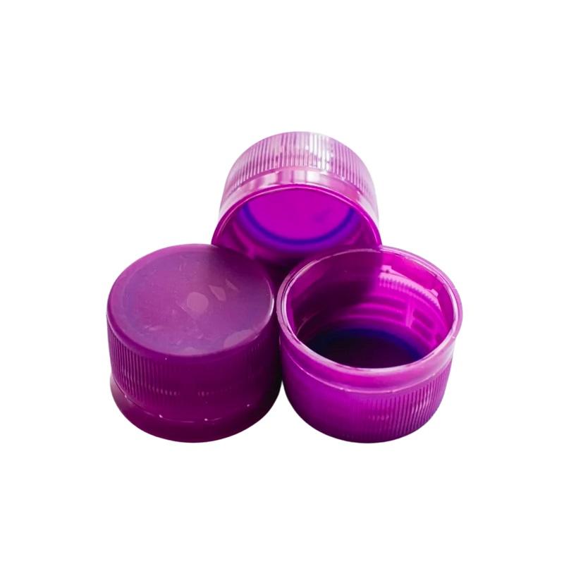 Tampinha Plástica para Garrafa / Growler Pet - Roxa