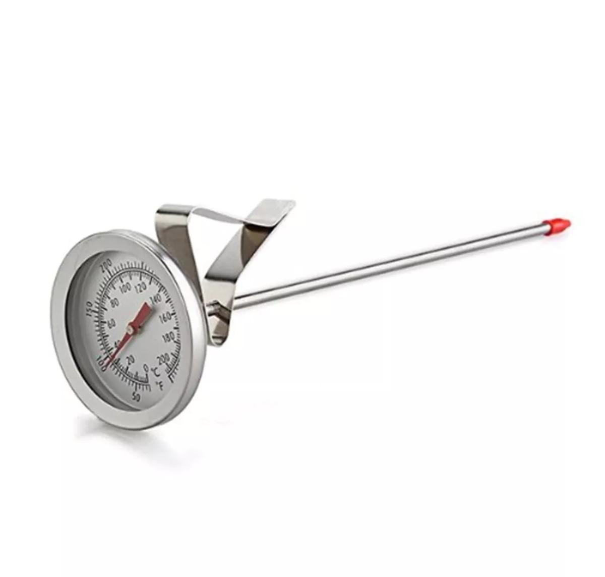 Termômetro Analógico Tipo Espeto com Clipe para Caldeirão