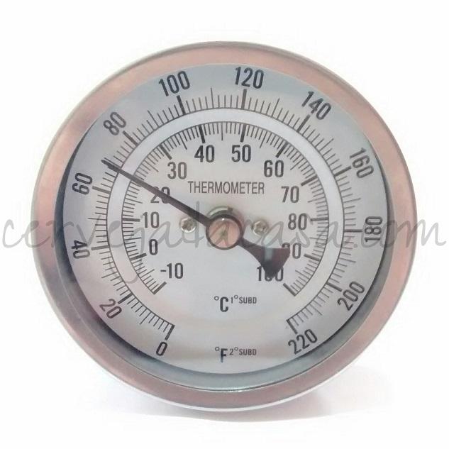 Termômetro Bimetálico em Inox para Caldeirão