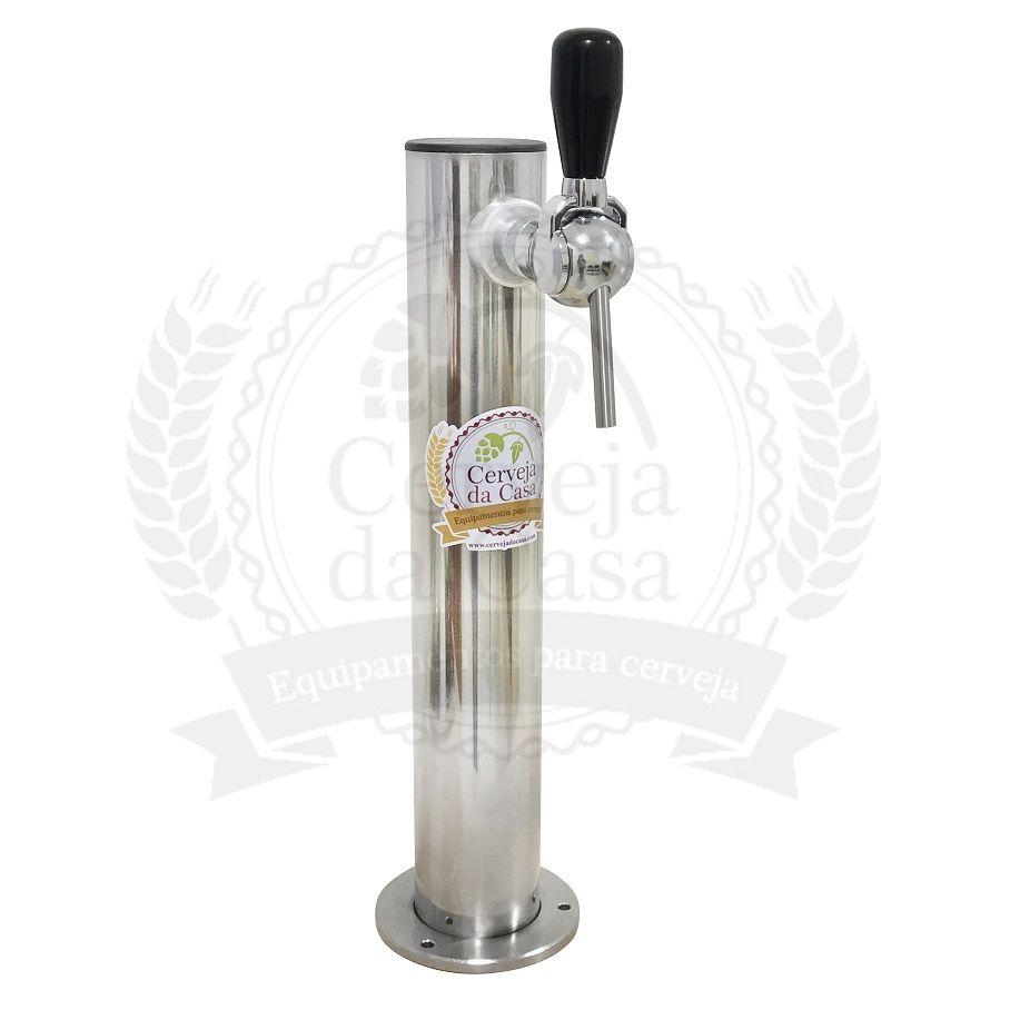 Torre de Chopp em Inox Com 1 Torneira  - Cerveja da Casa