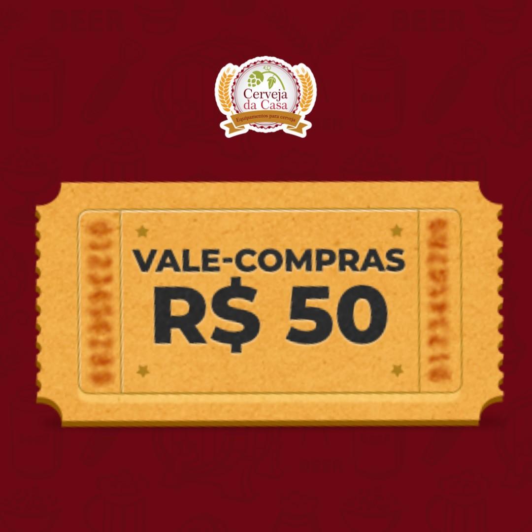 Vale-compras R$ 50,00