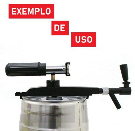 Válvula extratora Profi-Tap para Mini Keg 5L  - Cerveja da Casa