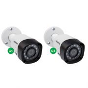 Kit CFTV 2 Câmeras Multi HD HDCVI 1 Mega 2.6 mm 20m VHD 3120 B G4 Intelbras