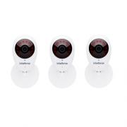 Kit 3 Câmeras IP Sem Fio Wi-Fi HD MiBO Micro SD Áudio iC3 Intelbras