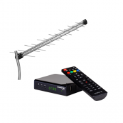 Kit Antena De TV Digital AE 1028 + 1 Conversor Digital CD 730 Intelbras