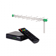 Kit Antena de TV Digital AE 1228 + 1 Conversor Digital CD 730  Intelbras