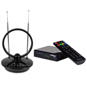 Kit Antena De TV Digital AI 1000 + 1 Conversor Digital CD 730 Intelbras