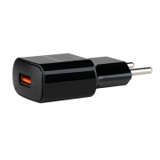 Carregador USB  Qualcomm Quick Charge EC 1 Quick  Preto Intelbras