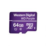 Cartão de Memória 64 GB Micro SD WD Purple Intelbras