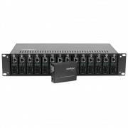 Chassi Rack 19 Para Conversores De Mídia Intelbras KX 1400 R
