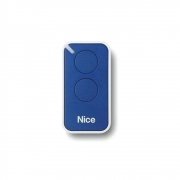 Controle Remoto 433,92 MHz Rolling Code 2 Botões Era Inti Azul Linear HCS - Nice
