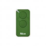 Controle Remoto 433,92 MHz Rolling Code 2 Botões Era Inti Verde Linear HCS - Nice