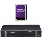 DVR Stand Alone 16 Canais 1080P LITE MULTI HD MHDX 1116 + HD 3 Teras Purple Intelbras