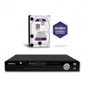 Kit Gravador Nvr 16 Ch NVD 3016 + HD 1TB Purple Intelbras
