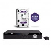 Kit Gravador Nvr 16 Ch Nvd 5016 4k + HD 1TB Purple Intelbras