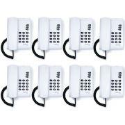 Kit 08 Telefones Com Fio Mesa ou Parede Pleno Branco Intelbras