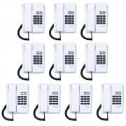Kit 10 Telefones Com Fio TC 50 Premium Branco Intelbras