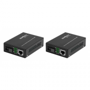 Kit Conversor De Mídia Fibra Óptica Fast Monomodo 20 KM - KFSD 1120 A e B - Intelbras