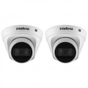 Kit 2 Câmeras IP 1 Megapixel 2.8mm 30m PoE VIP 1130 D Intelbras