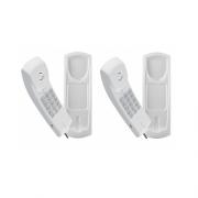 Kit 02 Telefones Com Fio Gôndola Branco TC 20 Intelbras