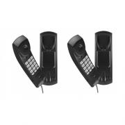 Kit 02 Telefones Com Fio Gôndola Preto TC 20 Intelbras