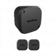 Kit 3 Caixas de Passagem Plástica Câmeras Bullet/Dome Interno VBOX 1100 Black Intelbras