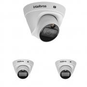Kit 3 Câmera IP 2 Megapixels 2.8mm 20m PoE VIP 1220 D FULL COLOR Intelbras
