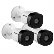 Kit 3 Câmeras Multi HD 2 Megapixels 3.6mm 20m VHD 1220 B G6 Intelbras