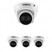 Kit 4 Câmeras IP 1 Megapixel 2.8mm 30m PoE VIP 1130 D Intelbras