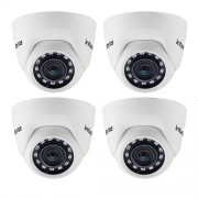 Kit 4 Câmeras IP 1 Megapixel 2.6mm 20m VIP 1020 D Intelbras