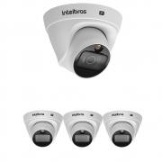 Kit 4 Câmera IP 2 Megapixels 2.8mm 20m PoE VIP 1220 D FULL COLOR Intelbras